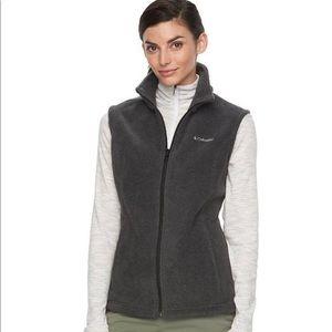 COLUMBIA Gray Fleece Vest Size Large